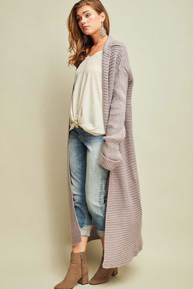 Lilac Sweater Duster