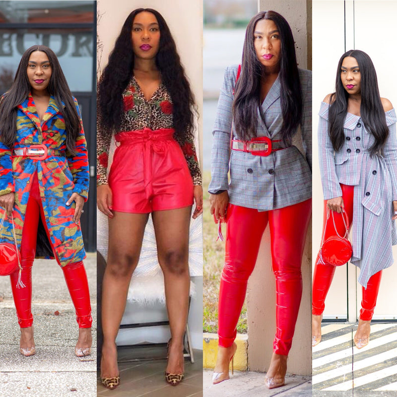 7 Pretty Ways to Wear red leather pants!