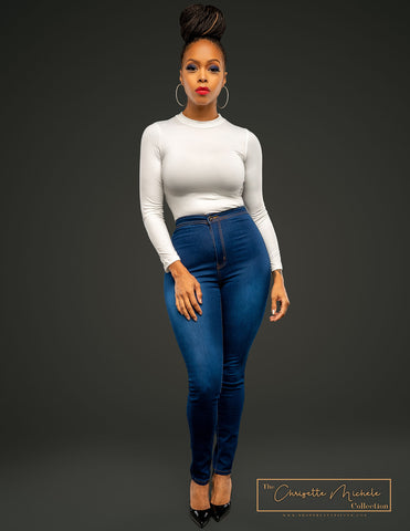 Chrisette Michele High Waist Skinny Jean