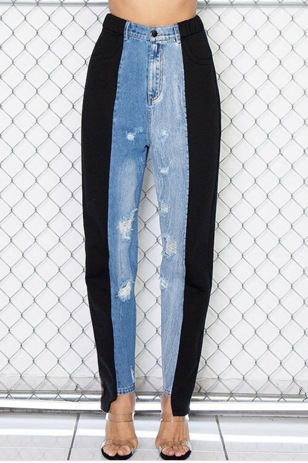 Princess Hybrid Denim and Sweats Dressy Joggers