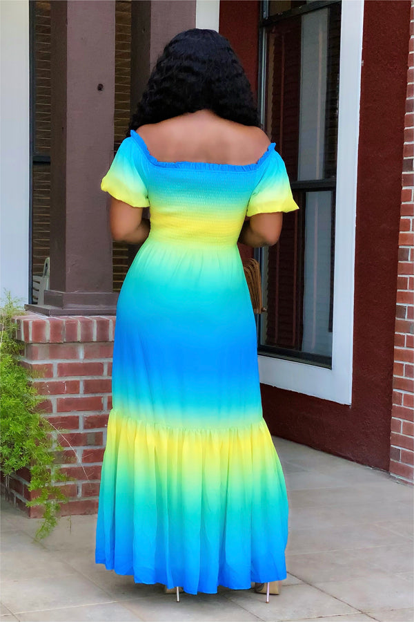 Charlene Ombré Tiered Maxi Dress