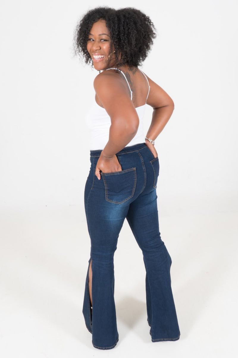 Cherrie Split Leg Bellbottom Jeans