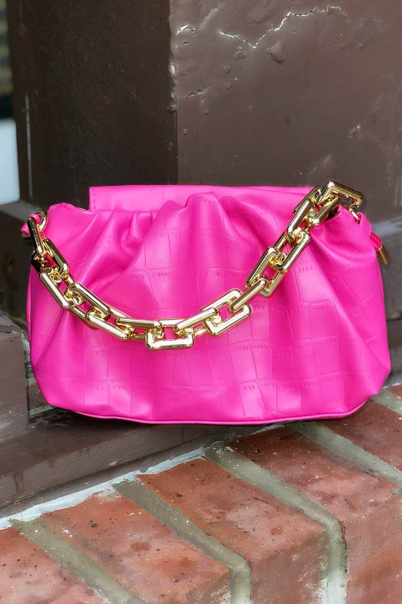 Lauryn Cute Mini Pouchette Crossbody-Hot Pink