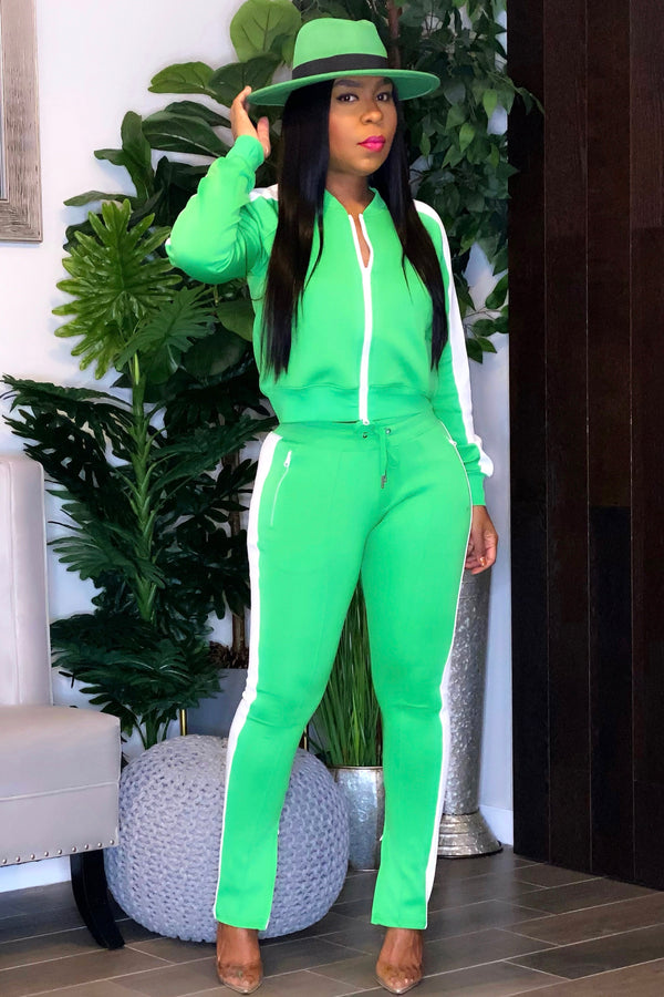 Deborah Track Suit- Kelly Green