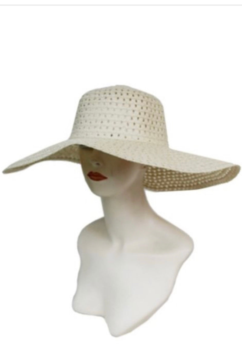 Lashawn Floppy Straw Sun Hat-Beige
