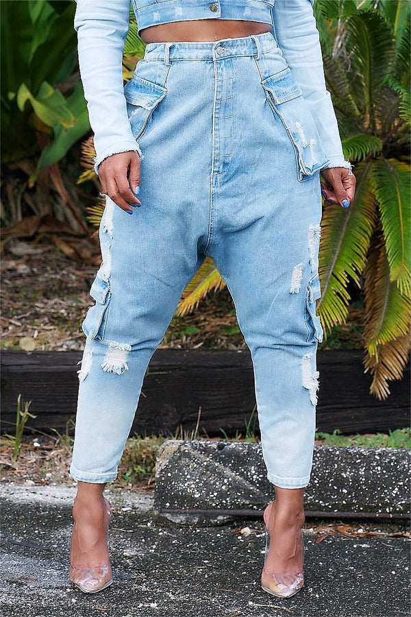 Diana Distressed Harem Jeans