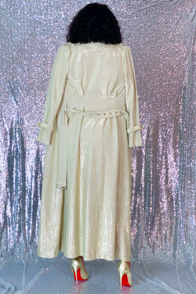 Coralyn Lux Trench Coat/Dress- Gold