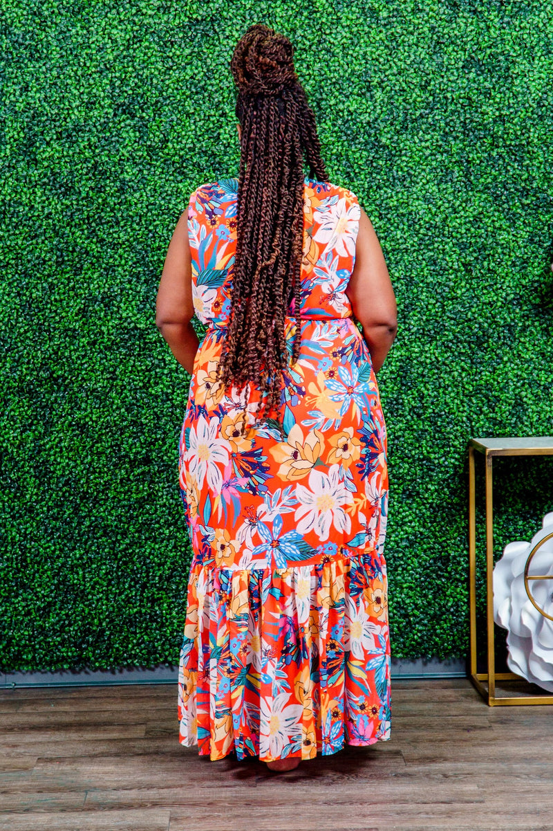 Chante Tiered Lux Maxi Dress