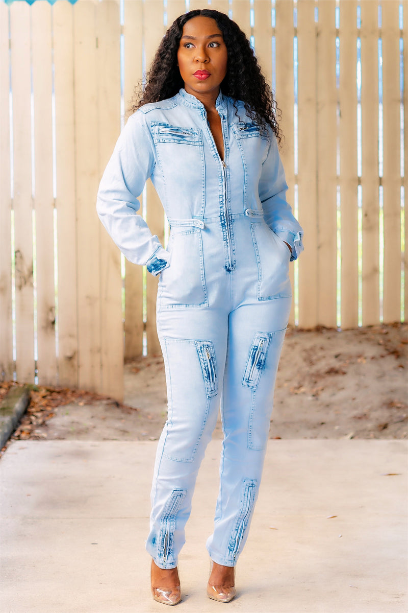 Sharmetra Denim Couture Jumper