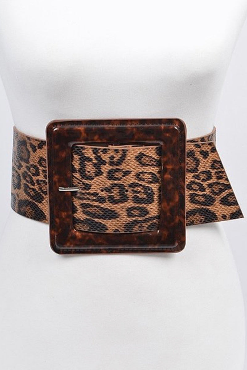 Chrissie Wide Leopard Print Belt-SHIPS 3/1