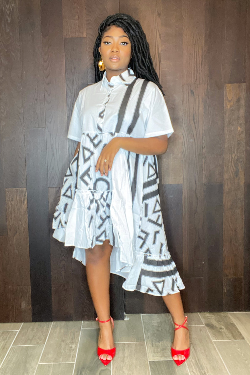 Naomi Graffiti Print Couture Dress
