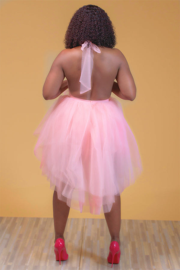 Delora Couture Tulle Dress - Pink