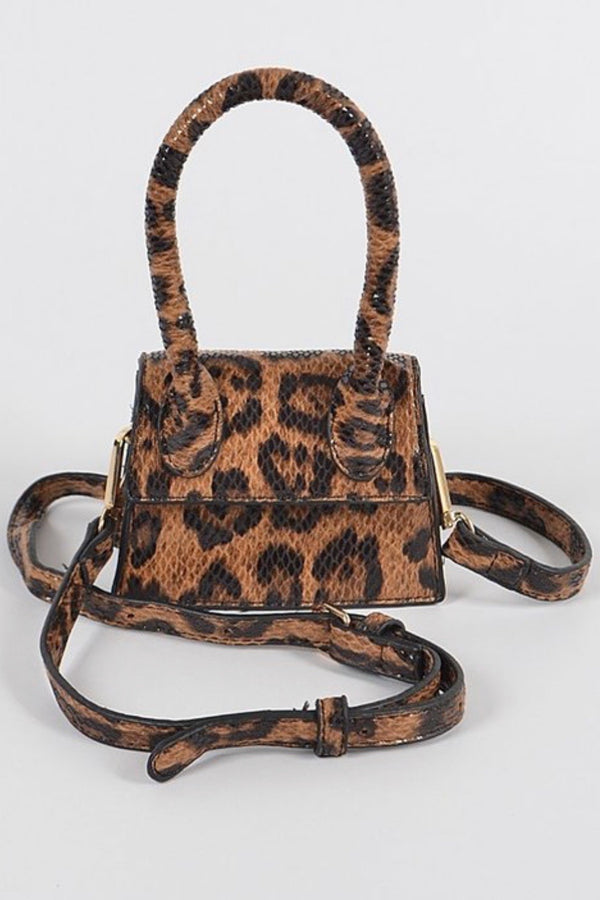 Thomasena Leopard Print Nano Size Crossbody Bag
