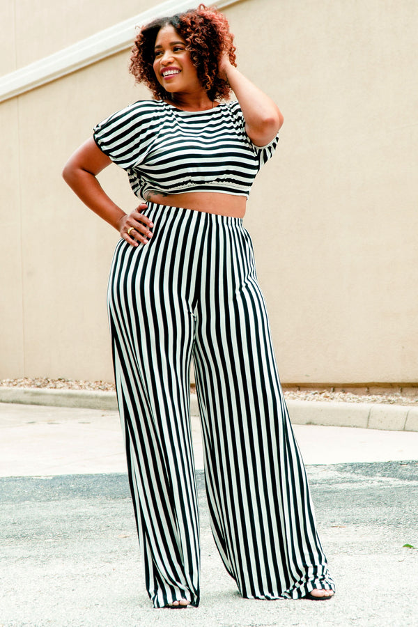 Lakesha Crop Top and Palazzo Pants Set