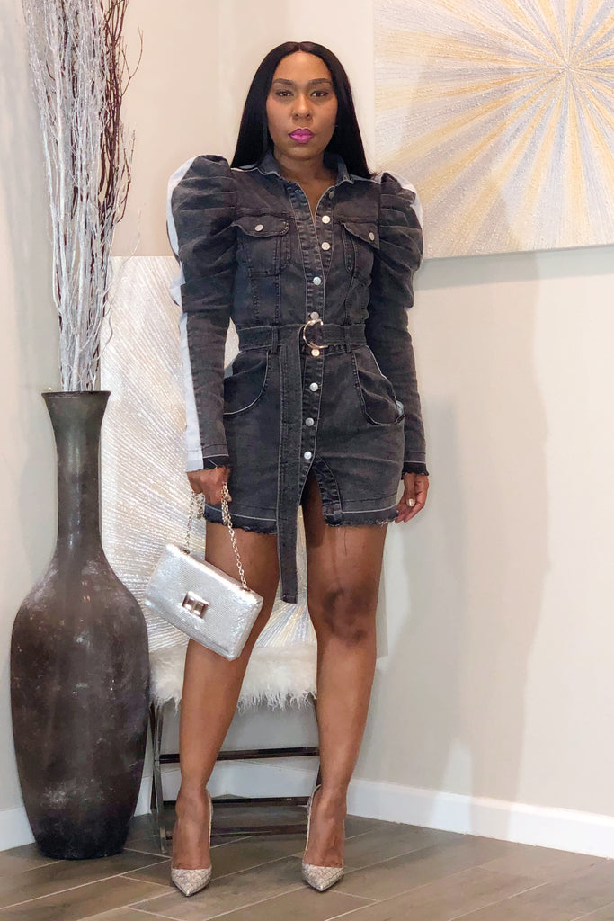 Gaga Couture Denim Mini Dress