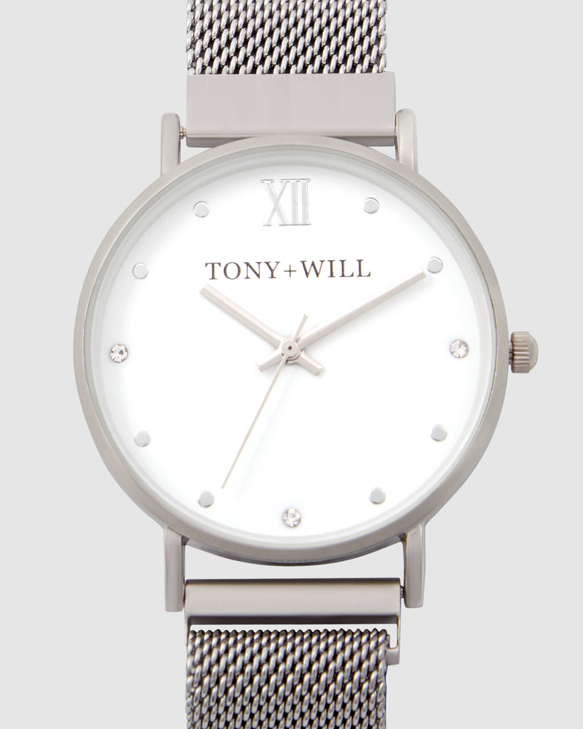 TWM002D (36mm Medium size face) Silver Mesh