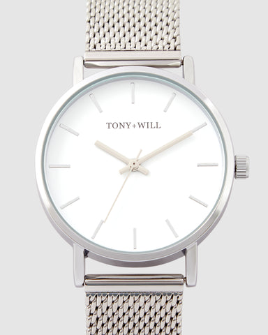 TWM004D (36mm Medium Size Face) Silver Mesh