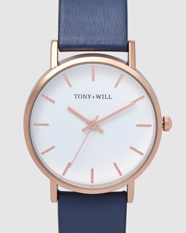 TWT004E (36MM Medium Face) Rose White Navy
