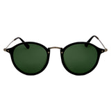 Amazon Polarised Retro Vintage Round Frame Sunglasses - Black