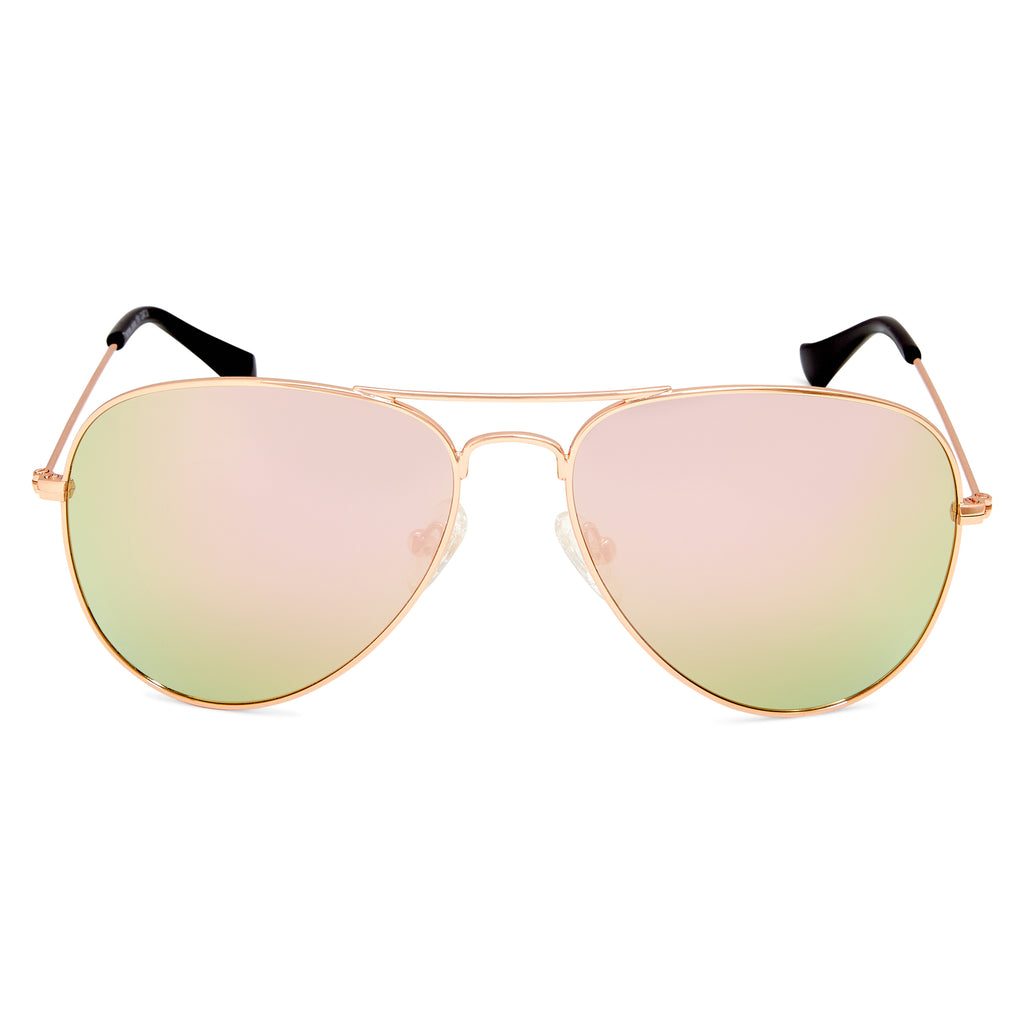 Thames Polarised Vintage Aviator Frame Womens Sunglasses - Rose Gold