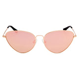 Yangtze Polarised Retro Cat Eye Frame Sunglasses - Rose Gold