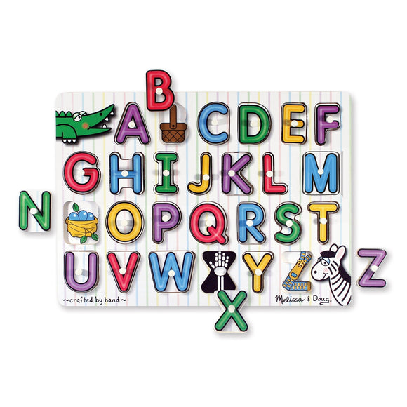 Melissa & Doug Alphabet See-Inside Peg Puzzle Pieces Removed