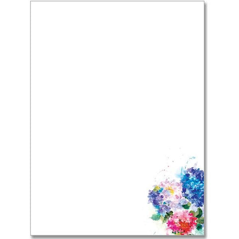 Hydrangeas Stationery Set