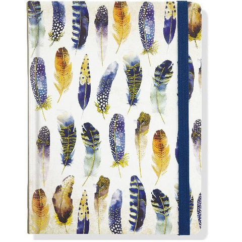 Watercolour Feathers Journal
