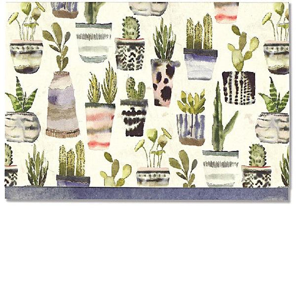 Watercolour Succulents Note Cards