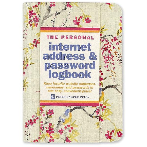 Blossoms & Bluebirds Internet Address & Password Logbook