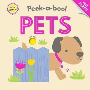 Little Beginners Pets Felt Peek-a-boo Book Front Cover