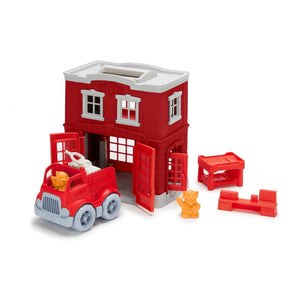 Fire Station Playset by Green Toys Unboxed