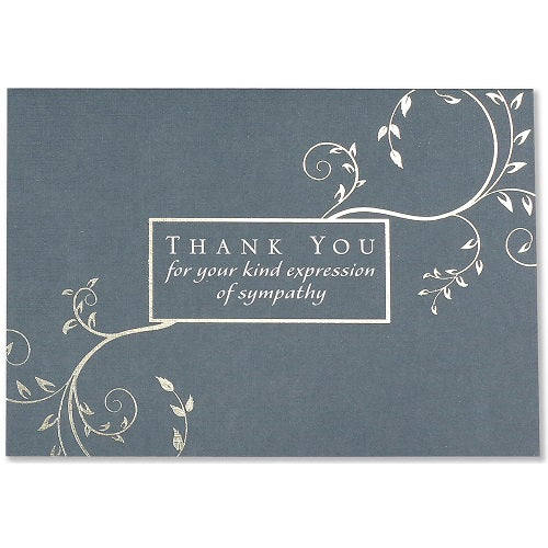 Condolence Thank You Note Card