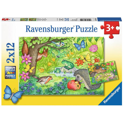 Ravensburger - Animals in Our Garden Puzzle 2x12 Piece