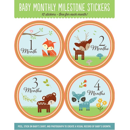 Woodland Friends Baby Stickers