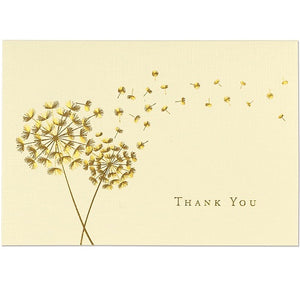 Dandelion Wishes Thank You Note Card