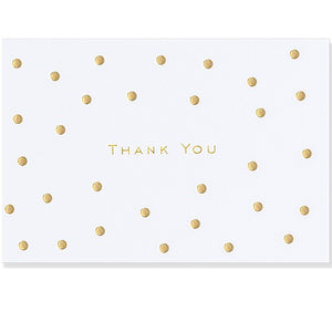 Gold Dots Thank You Note Card
