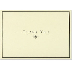 Black & Cream Thank You Note Card