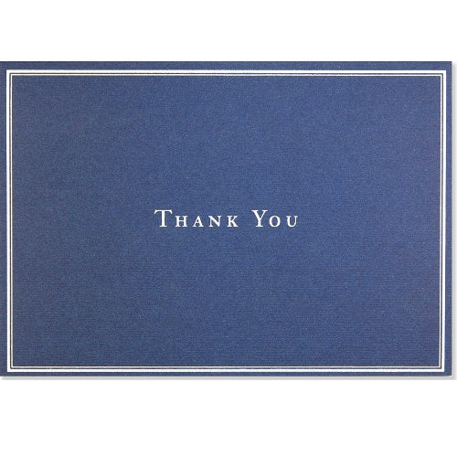 Navy Blue Thank You Note Card