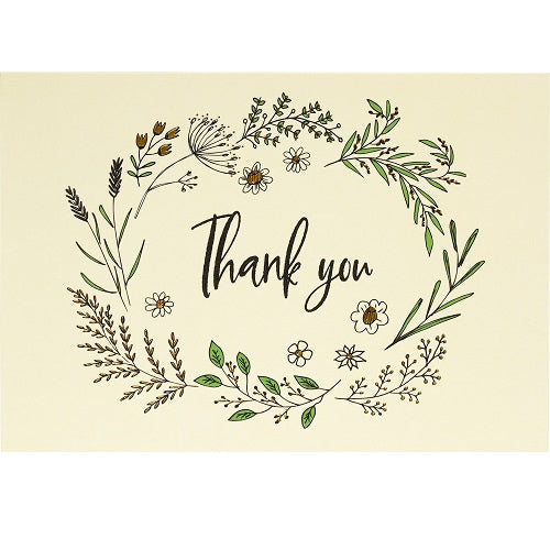 Native Botanicals Thank You Note Card