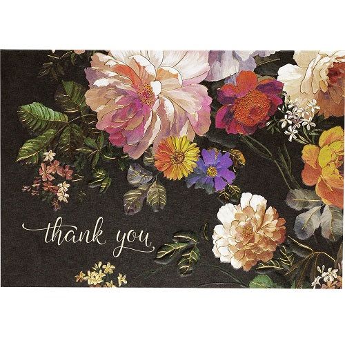 Midnight Floral Thank You Note Cards