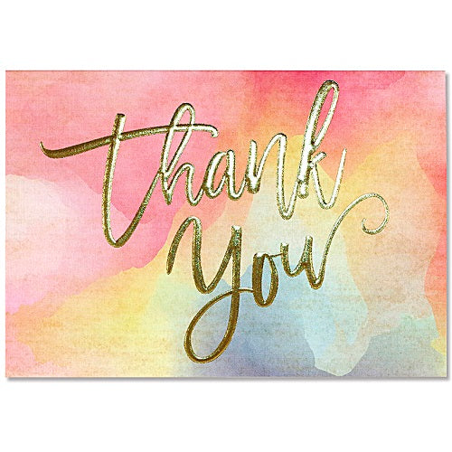 Watercolour Sunset Thank You Note Card