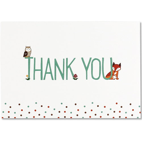 Woodland Friends Thank You Note Card