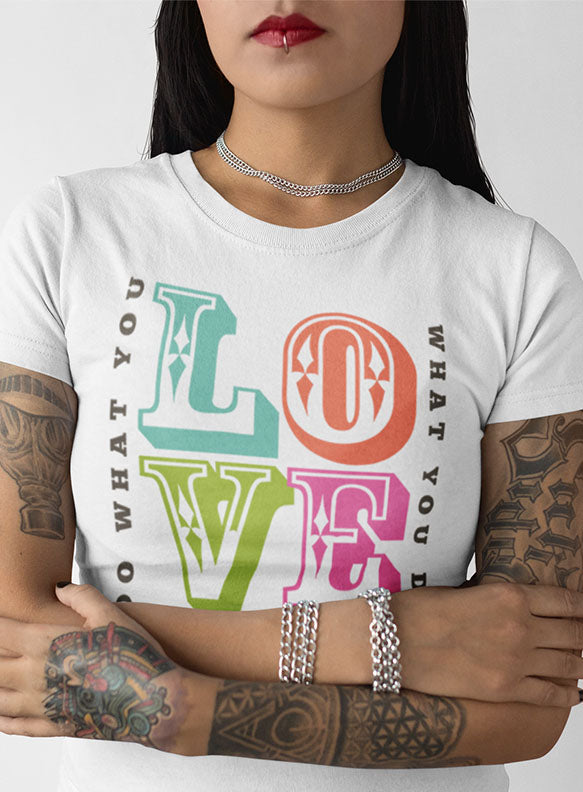 "TATDADDY ""LOVE"" LADIES TEE - TatDaddy Clothing Co."