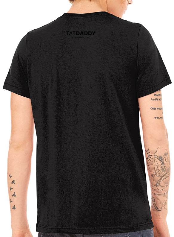 "TATDADDY ""BLACK ON BLACK"" TRI-BLEND - TatDaddy Clothing Co. tattoo clothing"