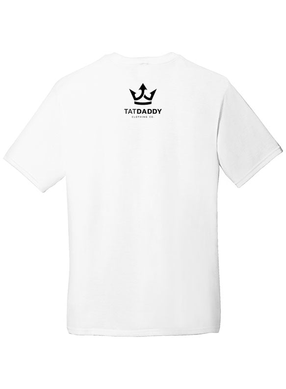 "NEW ""SCORPION"" WHITE TRI-BLEND MEN'S TEE - TatDaddy Clothing Co."
