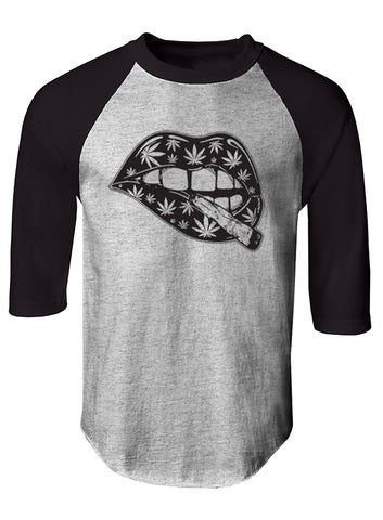 """BLUNT LIPS"" RAGLAN TEE - TatDaddy Clothing Co. tattoo clothing"