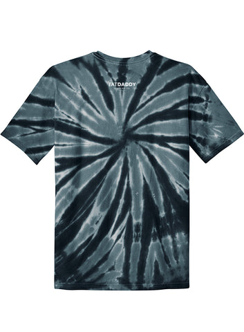 "NEW ""TATDADDY LOGO"" UNISEX BLACK TIE DYE TEE - TatDaddy Clothing Co. tattoo clothing"