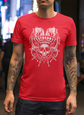 "NEW ""DRAGONS BREATH"" RED MEN'S TEE - TatDaddy Clothing Co. tattoo clothing"