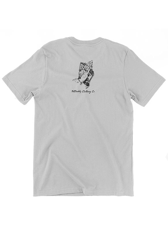 "TATDADDY ""NO FOO"" MEN'S TEE SILVER"